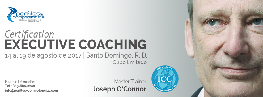 Coaching Executivo com Joseph O'Connor em agosto – Rep. Dominicana