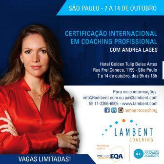 Certificação Internacional em Coaching Profissional em São Paulo – outubro