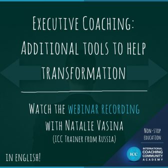 Grabaciones Webinar – Executive Coaching: Additional Tools to Help Transformation