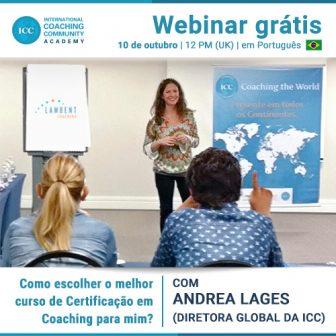 Webinar Grátis: Como escolher o melhor curso de certificação em Coaching para mim?
