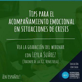 Gravações de Webinars: Tips para el acompañamiento emocional en situaciones de crisis