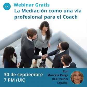 Webinar gratis: La Mediación como una vía profesional para el Coach