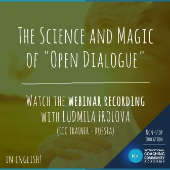 "Gravações de Webinars: The Science and Magic of ""Open Dialogue"""