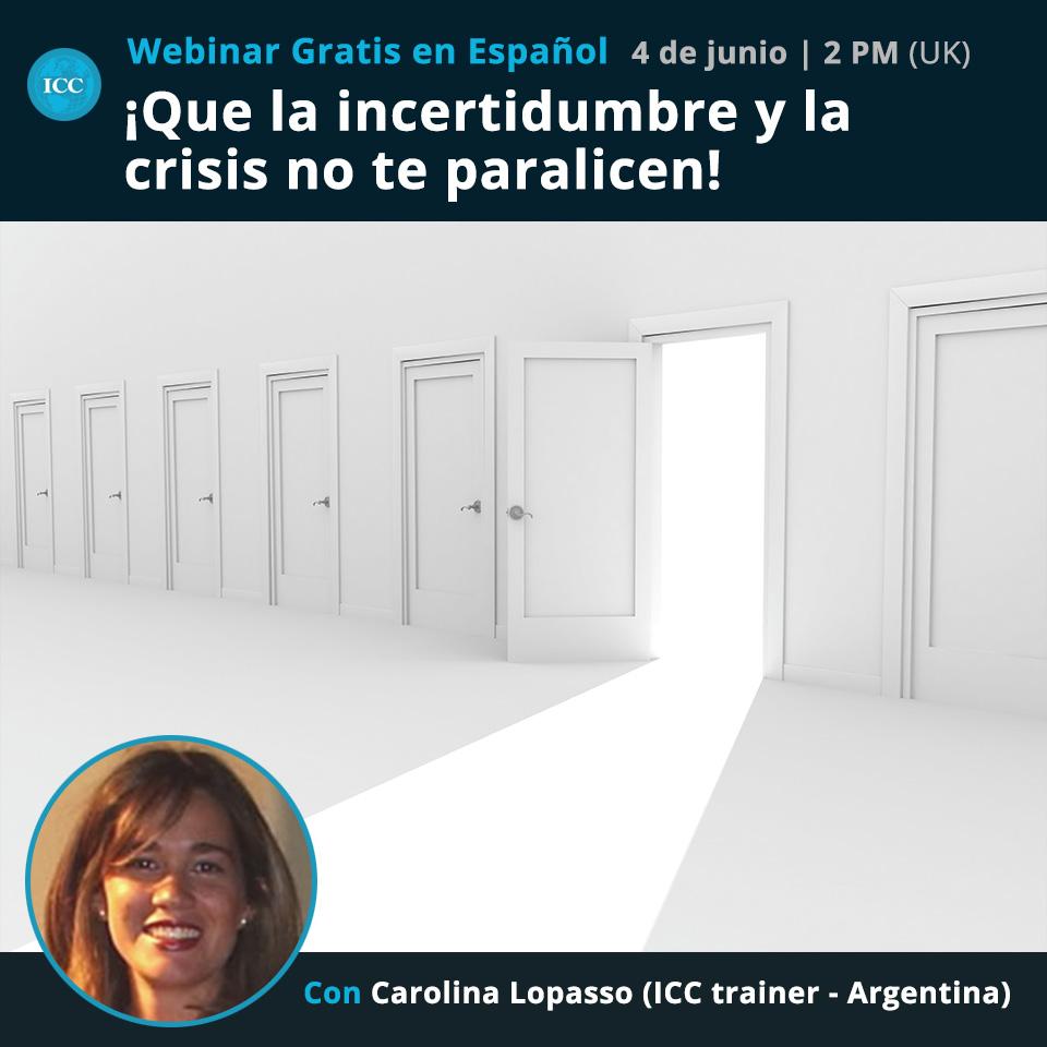Webinar gratis: ¡Que la incertidumbre y la crisis no te paralicen!