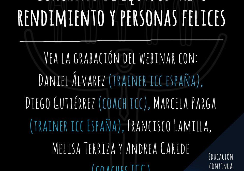 Gravação de Webinar: Coaching de equipos – alto rendimiento y personas felices